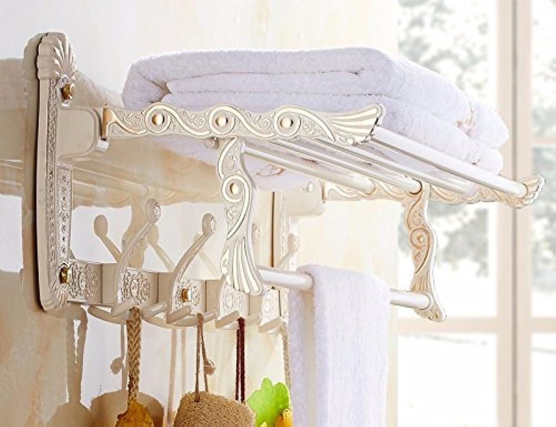 Towel Rack Home Der minimalistische Stil WC Bad Stnder Gantry European Style60Cm faltbar mit Hooks61Cm