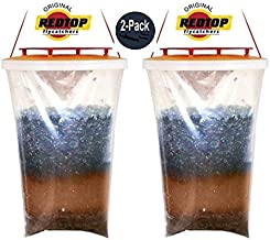 Redtop Flycatchers Standard Size - 100% Non-Toxic Disposable Outdoor Fly Trap - Designed to Attract Egg-Laying Females - 2 Pack