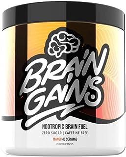 Brain Gains Nootropic Brain Fuel, 260 g, Mango