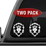 Signage Cafe World of Warcraft Alliance - 2PK - Decal Sticker for Car Window, Laptop and More. 4' x 5.1', White