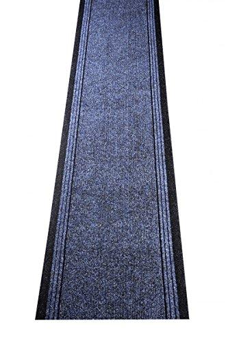 havatex Schmutzfang Läufer Kongo - und schadstoffgeprüft | pflegeleicht schmutzresistent robust und strapazierfähig | Flur Diele Eingang Küche Küchenteppich, Farbe:Blau, Größe:80 x 400 cm