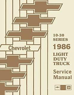 1986 Chevy Truck Repair Shop Manual Original Pickup Blazer Suburban Van FC