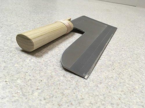 ステンレス製めん切り包丁「壮次郎27cm」白木柄(手打ちそばうどん等の麺切り用)
