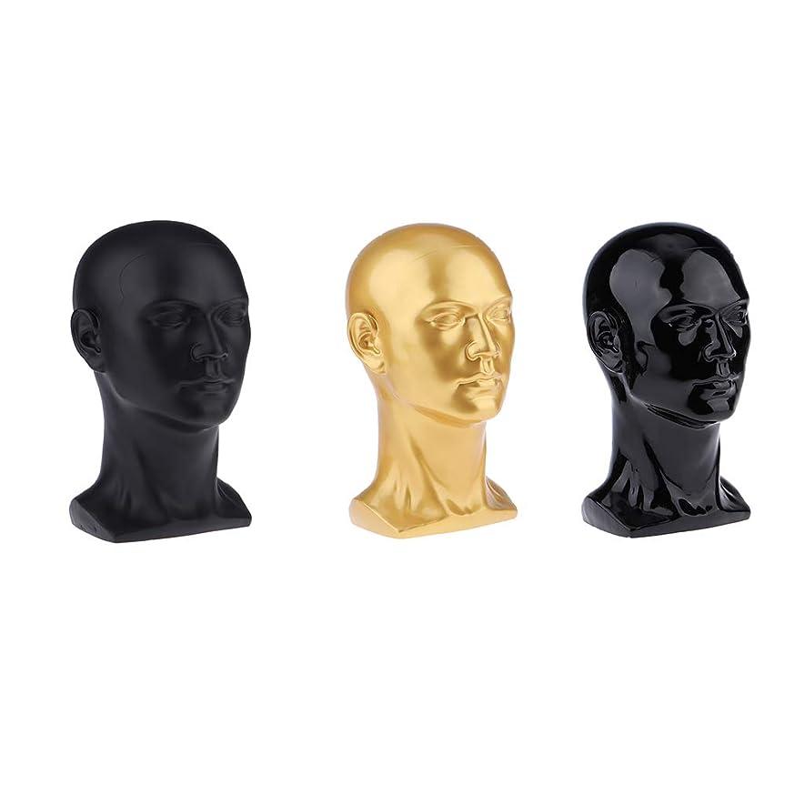 鉄ビーチ資金CUTICATE 男性ヘッドモデル プラスチック メガネ ヘッド かつらディスプレイ スタンド ホルダー 装飾