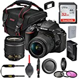 Nikon D5600 DSLR Camera w/Nikon AF-P DX NIKKOR 18-55mm f/3.5-5.6G VR Lens, 32GB Memory Card Plus Accessory Kit Bundle