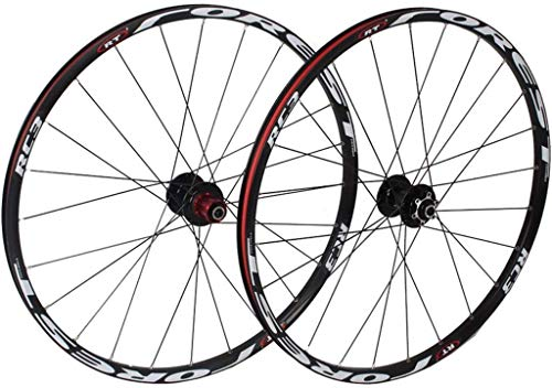 Knoijijuo fiets voorwiel achterwielen voor 26 inch 27,5 inch mountainbike, MTB Bike loopwielset 7 lagers 24h legering trommel schijfrem, A, 27,5 inch