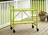 Cosco Outdoor Living Indoor/Outdoor Folding Serving Cart, Apple Green