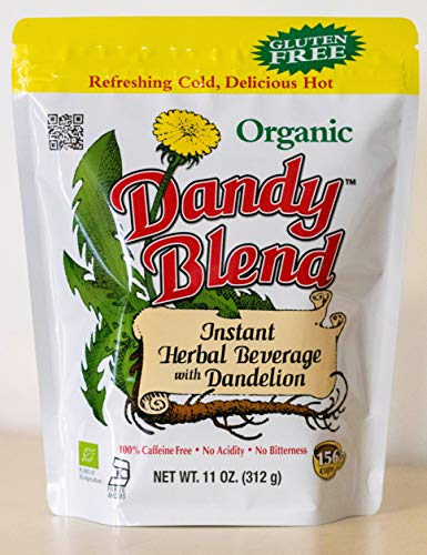 156 Cup Bag of Certified Organic Dandy Blend Instant Herbal Beverage with Dandelion, 11 oz. (312g) Bag