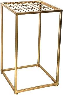 花は蘭シェルフフラワーポットフラワーないに組み立てする必要がスタンドハンギング現代のミニマリストの錬鉄床マルチレイヤリビングルームバルコニーインドアグリーン茎スタンド (Color : Gold, Size : 50*30cm)