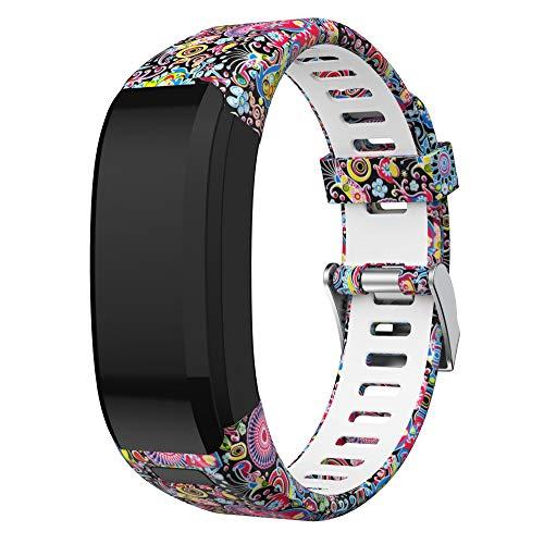 SUPORE Garmin Vivosmart HR Armband Uhrenarmband, Ersatzarmband, Zubehör Verstellbares Weiches Silikon Band Armbanduhren Entwickelt für Garmin Vivosmart HR Smart Watch …