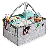 Organizador de Pañales para Bebé, Comius Sharp Cesta de Pañales Bebe, Portátil Caja Pañales y Toallitas para Niño Niña, Regalo para Recién Nacidos