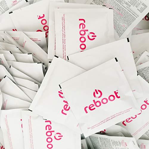 REBOOT® Sport & Energy Brause | Isotonischer Energizer mit Dextrose, Elektrolyten, Vitaminen und Koffein! | MEGAPACK mit 100x losen Beuteln