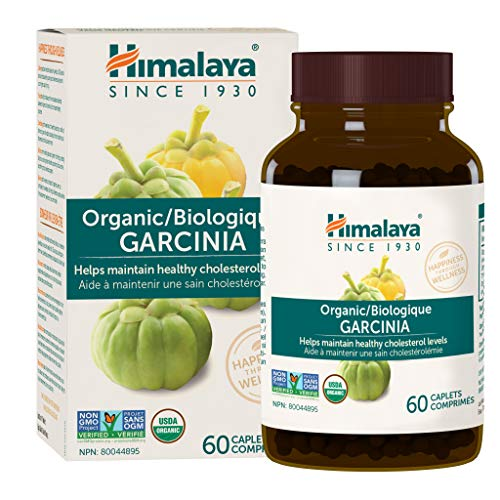 Himalaya Organic Garcinia Cambogia for Weight Loss, Promotes Healthy Body Weight and Metabolism, 600 mg, 60 Caplets, 1 Month Supply
