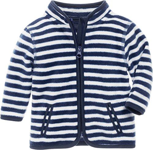 Schnizler Kinder-Jacke aus Fleece, atmungsaktives und hochwertiges Jäckchen mit Reißverschluss, gestreift, Blau (Marine/Weiß 171), 74