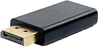 Adaptador DisplayPort Macho para HDMI Fêmea PlusCable Preto ADP-103BK - Conector banhado à ouro, Resolução FullHD, Display...