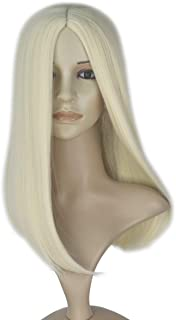 Miss U Hair 19Inch Long Straight Center Part Wig Deluxe Halloween Girl's Costume Wig (Beige)
