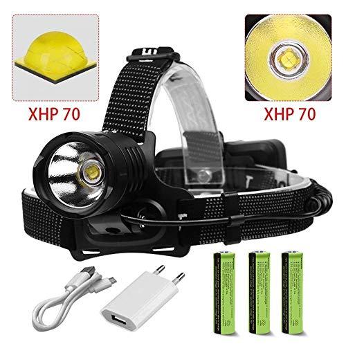 LBBL Het grootste deel van de koplamp 8000 lm Xhp70 krachtige LED-koplamp 18650, waterdicht, met elektrisch licht