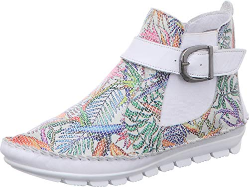 Gemini Damen Stiefeletten Leder Stiefel 382018-19, Größe:39 EU, Farbe:Weiß