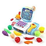 Caja Registradora de Juguete Supermercado para niños Cash registrador de juguete Juguete Casa Simulación Transacción Compras Máquina multifuncional Educación de la primera infancia para el Cajero Simu