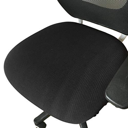 HengST Housse de Chaise de Bureau Démontable Élastique Simplissime Style Housse pour Fauteuil de Bureau Noir