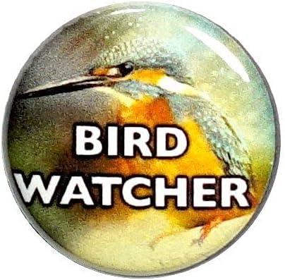 Bird Button Pin Badge Watcher Cool Elegant B Nature Jacket shopping Watching