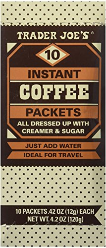 backpacking instant coffee packets Trader Joe's Instant Coffee Packets with Creamer & Sugar 10 Packets, 4.2 Oz (Pack of 2)