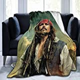 HOJJP Johnny Depp Super Soft Blanket, Light Plush Bed Blanket, Suitable for Adults and Children to Use 50'' X40