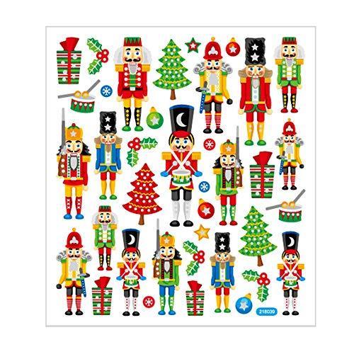 Sticker, blad 15 x 16,5 cm, ca. 36 stuks, notenkraker, 1 vel