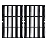GGC 19 1/4 Inch Grill Grate Replacement for Charmglow BBQ Grillware Nexgrill Weber Jenn-Air Others, 2-Pack Porcelain Coated Cast Iron Cooking Grid (12 3/8' x 19 1/4' for Each)