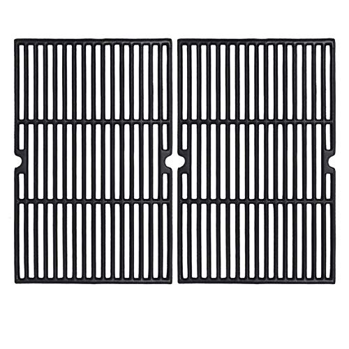 GGC 19 1 4 Inch Grill Grate Replacement for Charmglow BBQ Grillware Nexgrill Weber Jenn-Air Others, 2 PCS Porcelain Coated Cast Iron Cooking Grid (12 3 8  x 19 1 4  for Each)