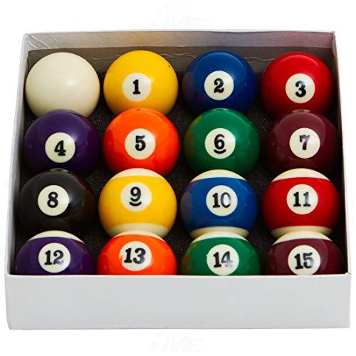 Jogo de Bolas de Sinuca 52mm Numeradas c/ 12 AX Esportes-Y349
