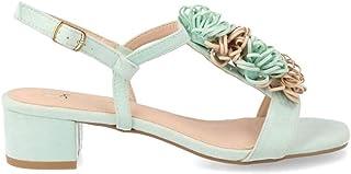 Amazon Vestir Verde Sandalias Zapatos esBuonarotti Para De WCoerxBd