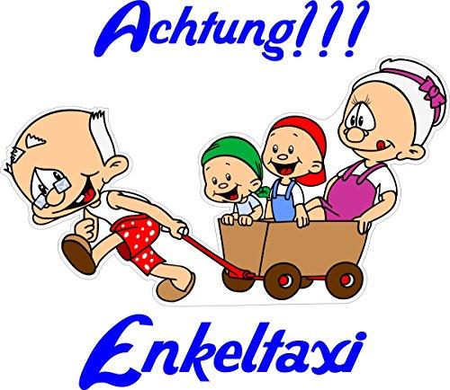 Babyaufkleber, Geschwisteraufkleber, Kinderaufkleber Oma und Opa unterwegs mit Wunschtext