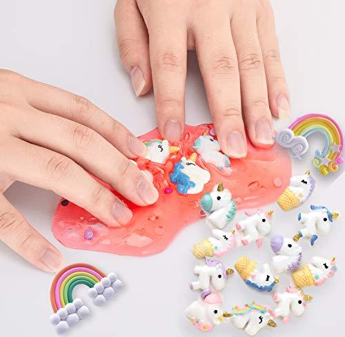 Unicorn Slime Kit for Girls - Slime for Girls, Fluffy Premade Slime with Unicorn Slime Charms, Glitter, DIY Pink, Toys… 7