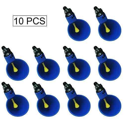 mooderff Automatische vogeldrinkdispenser, 10 stuks, blauw
