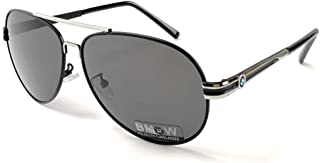 Driving Sunglasses for BMW with Brand Logo,Classic Aviator Sunglasses,Polarized Mirrored,Memory Aluminum Frame