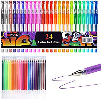 48-Count Glitter Colored Gel Pens