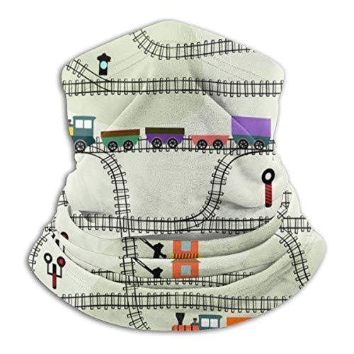 AEMAPE Tren de Juguete Retro, Calentador de Cuello de ferrocarril, Tocado, Diademas Anchas, Bufanda, Abrigo para la Cabeza, Diadema de Polaina para el Cuello, pañuelo para la Cara, Bufanda Deportiva