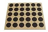 Brinox B77900W Embellecedor cubre-tornillos adhesivo, Madera Wengué, Set de 30 Piezas