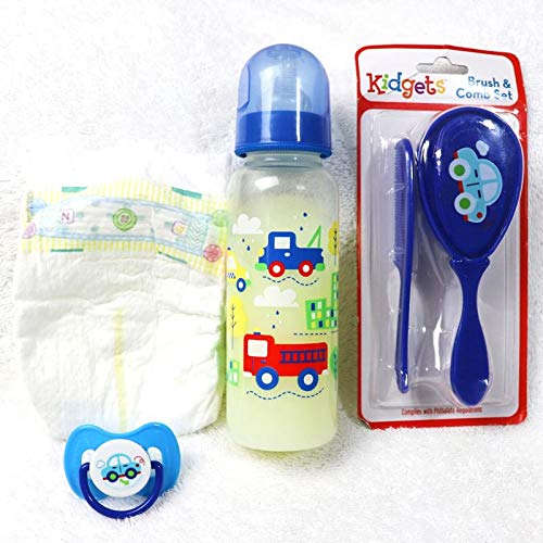 Discover Bargain Reborn Baby Doll Boy Car Formula Milk Bottle Brush Comb Set Fake Modified Putty Pac...