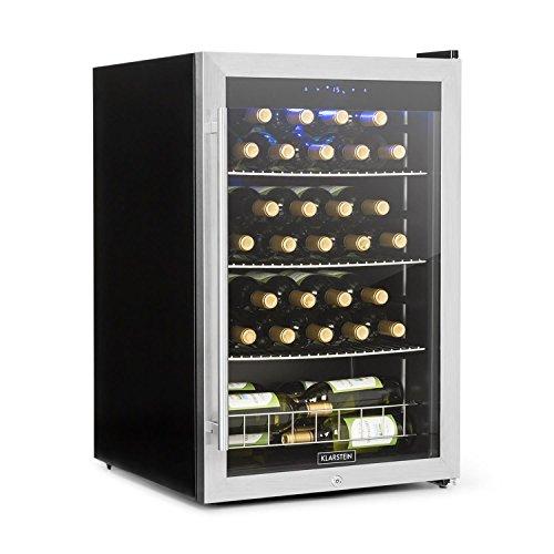 professionnel comparateur Klarstein Falcon Crest – Cave à vin, réfrigérateur pour boissons, 128 litres, 48… choix