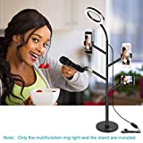 Neewer Multifunktions Tisch Ring Licht Übertragung Lichtset für Live Selfie Make-up mit 3...