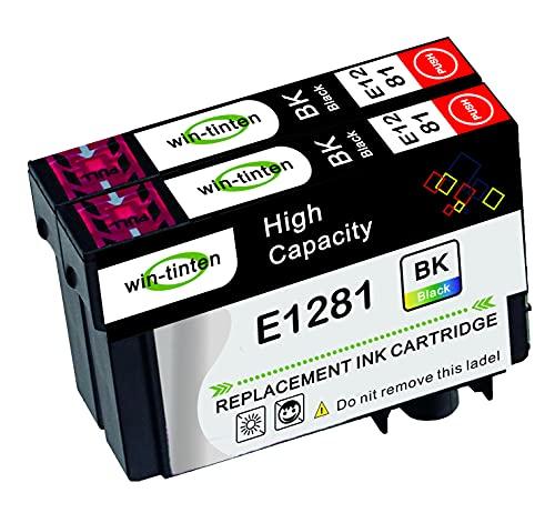 Win-Tinten Pack de 2 cartuchos de tinta negra compatibles con Epson T128XL T1281 para Epson Stylus SX125 SX235W SX130 S22 SX445W SX438W SX435W SX425W