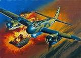 QFNY Pintura por Números, DIY Pintar por Numeros para Adultos Niños, Pintura al óleo Kit con Pinceles y Pinturas(Junkers Ju 88, 16 * 20 Pulgadas)