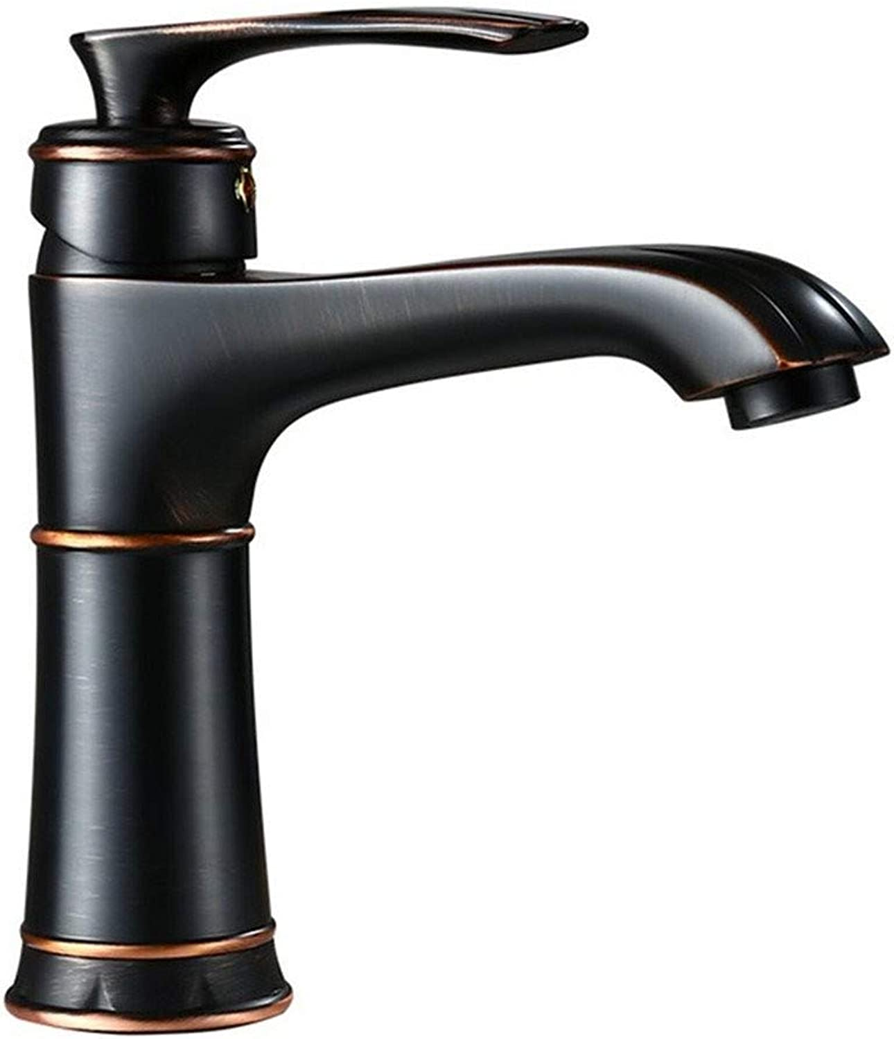 Basin Taps Swivel Spout Faucet Faucet Simple Fashion Washbasin Basin Water Bathroom Faucet Copper Single Hole Hot and Cold
