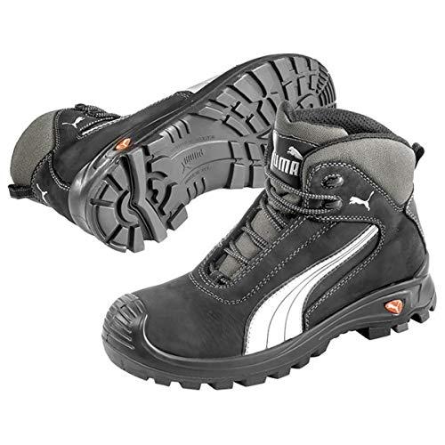 Puma Safety Shoes Cascades Mid S3 HRO SRC, Puma 630210-202 Unisex-Erwachsene Sicherheitsschuhe, Schwarz (schwarz/weiß 202), EU 47