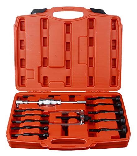 DAYUAN 16 pcs Blind Inner Bearing Puller Hole Remover Extractor Set Slide Hammer Tool Kit
