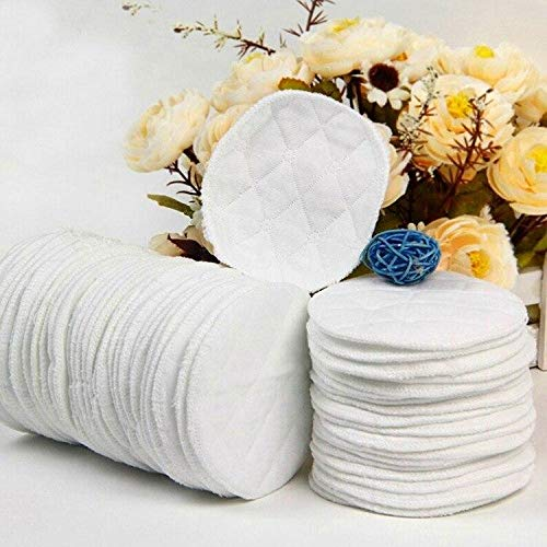 Find Bargain Nipple Pads for Breastfeeding 12 Pack 100% Cotton Washable & Reusable Leakproof Nipple ...