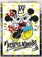 アートショップ フォームス ディズニー×ブランドオマージュアート/スターデザイン「ミッキー&ミニー×ルイ・ヴィトン(S)」A1ポスター