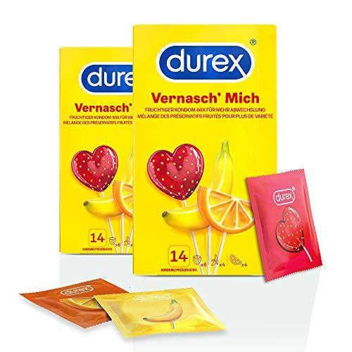 Durex Vernasch Mich Kondome, 2 x 14 Stück (28 Kondome)